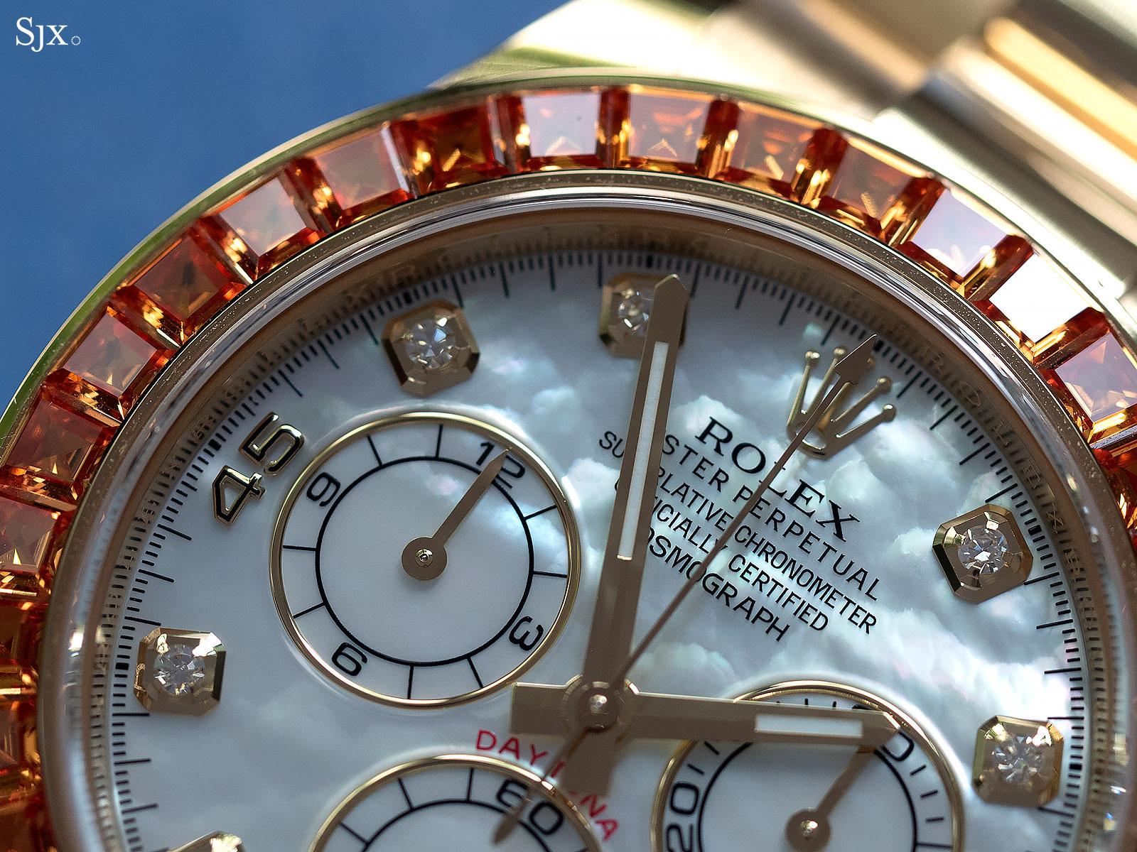 rolex Daytona orange sapphires 116578SACO 3