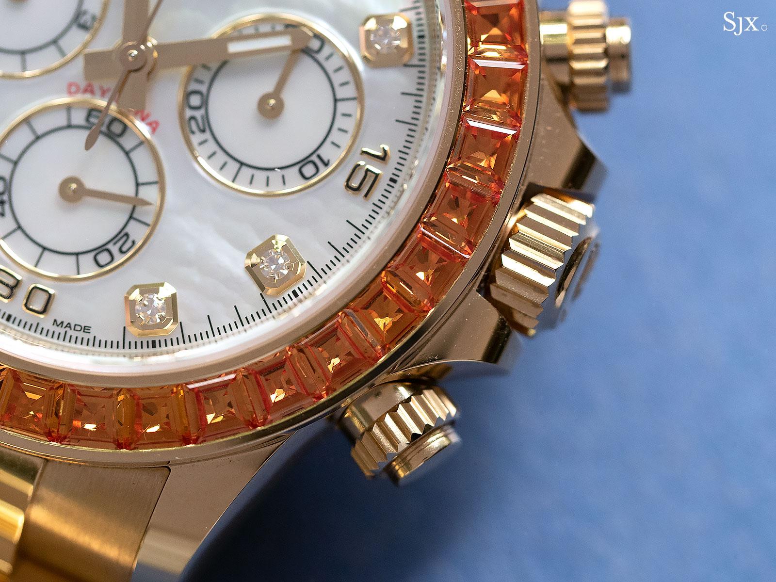 rolex Daytona orange sapphires 116578SACO 5
