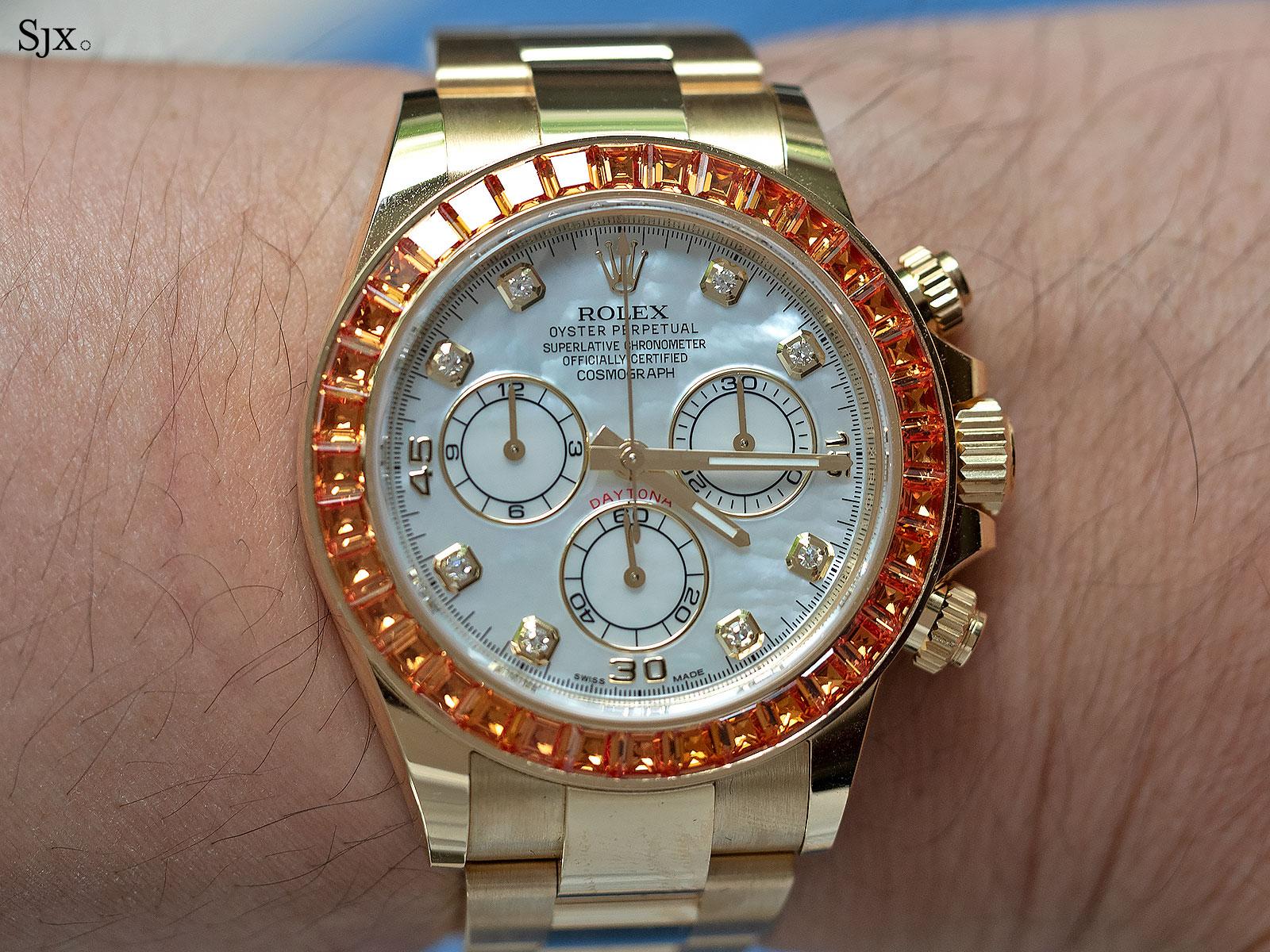 rolex Daytona orange sapphires 116578SACO 7