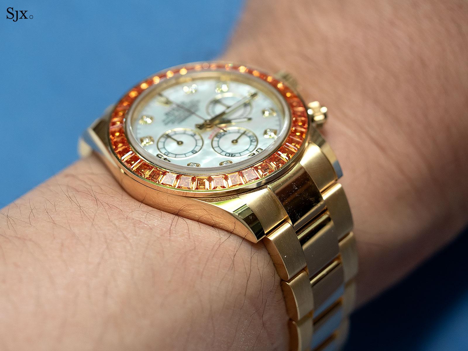 rolex Daytona orange sapphires 116578SACO 8