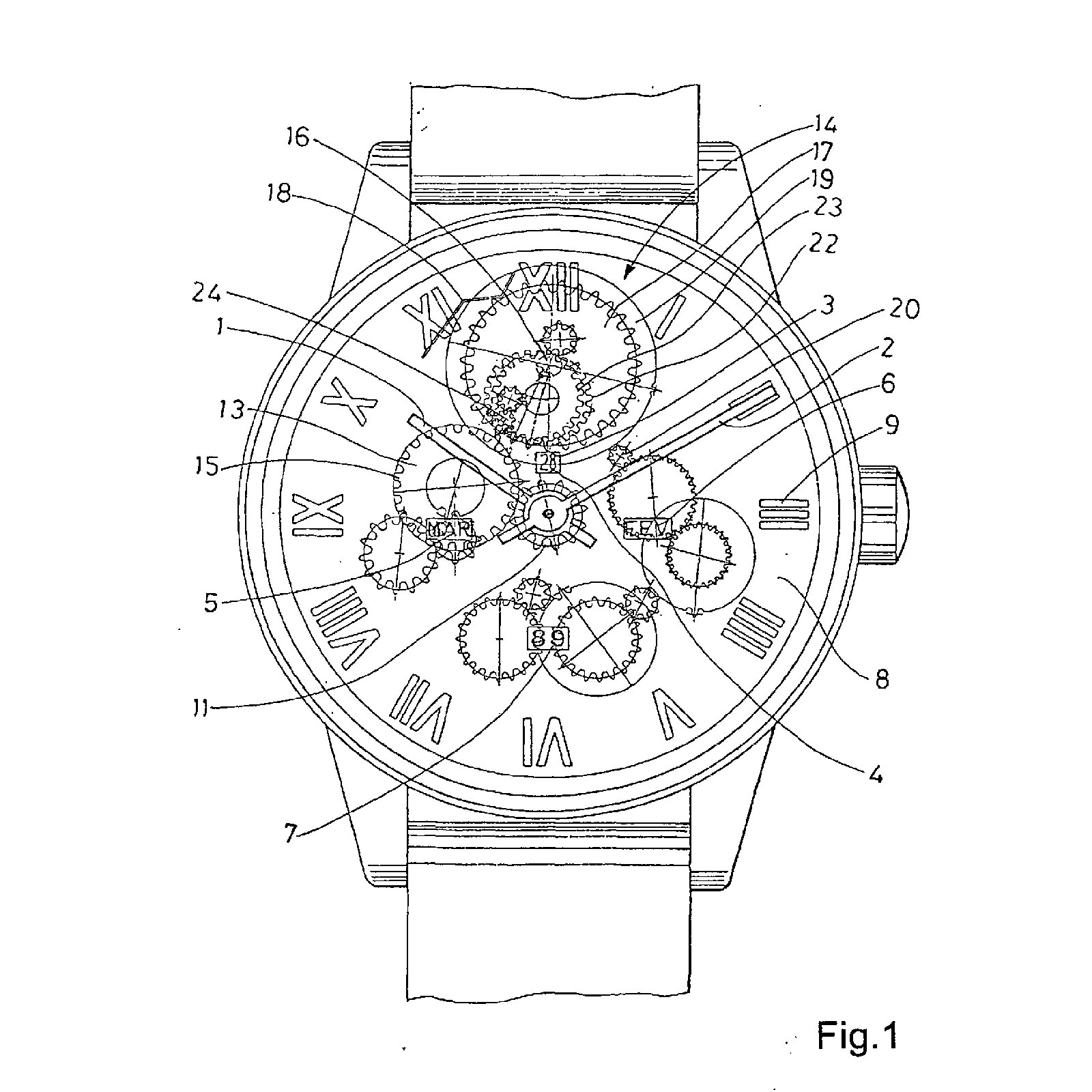 ulysse nardin perpetual ludwig patent patents EP1351104B1 CH696861A5