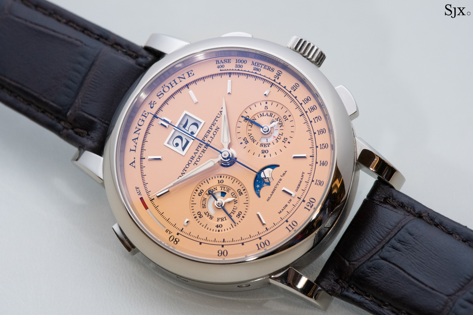 Detailed Look: A. Lange & Söhne Datograph Perpetual Tourbillon Pink Gold Dial | SJX Watches