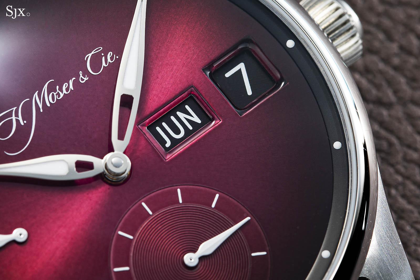 """H. Moser & Cie Pioneer Perpetual Calendar """"Raspberry"""""""
