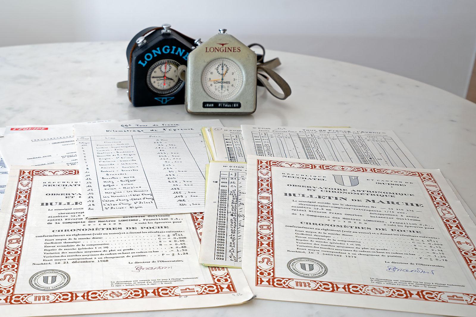 Longines chronograph tour de france pitallier 1