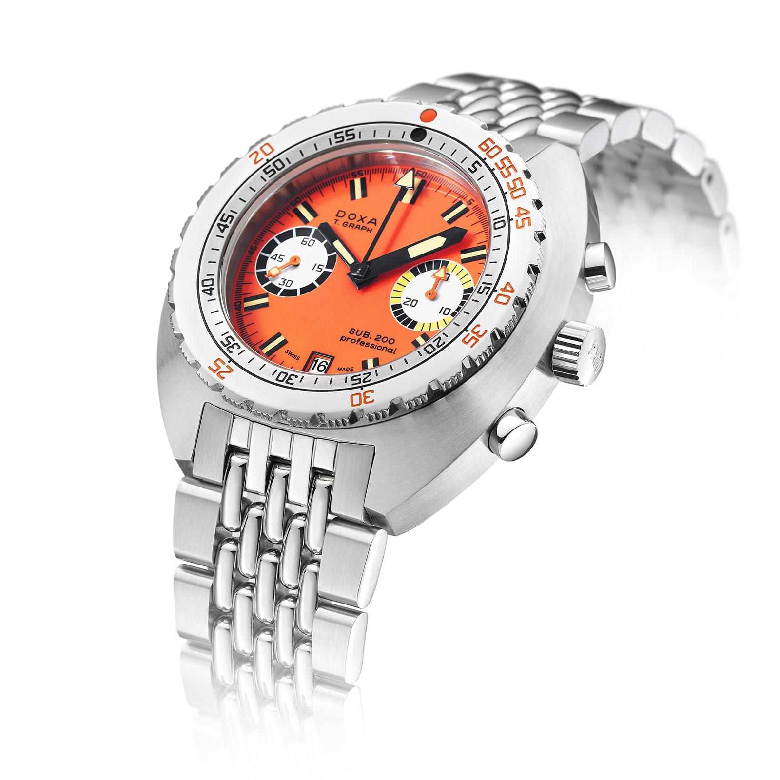 doxa Sub 200 T.Graph steel chronograph 1