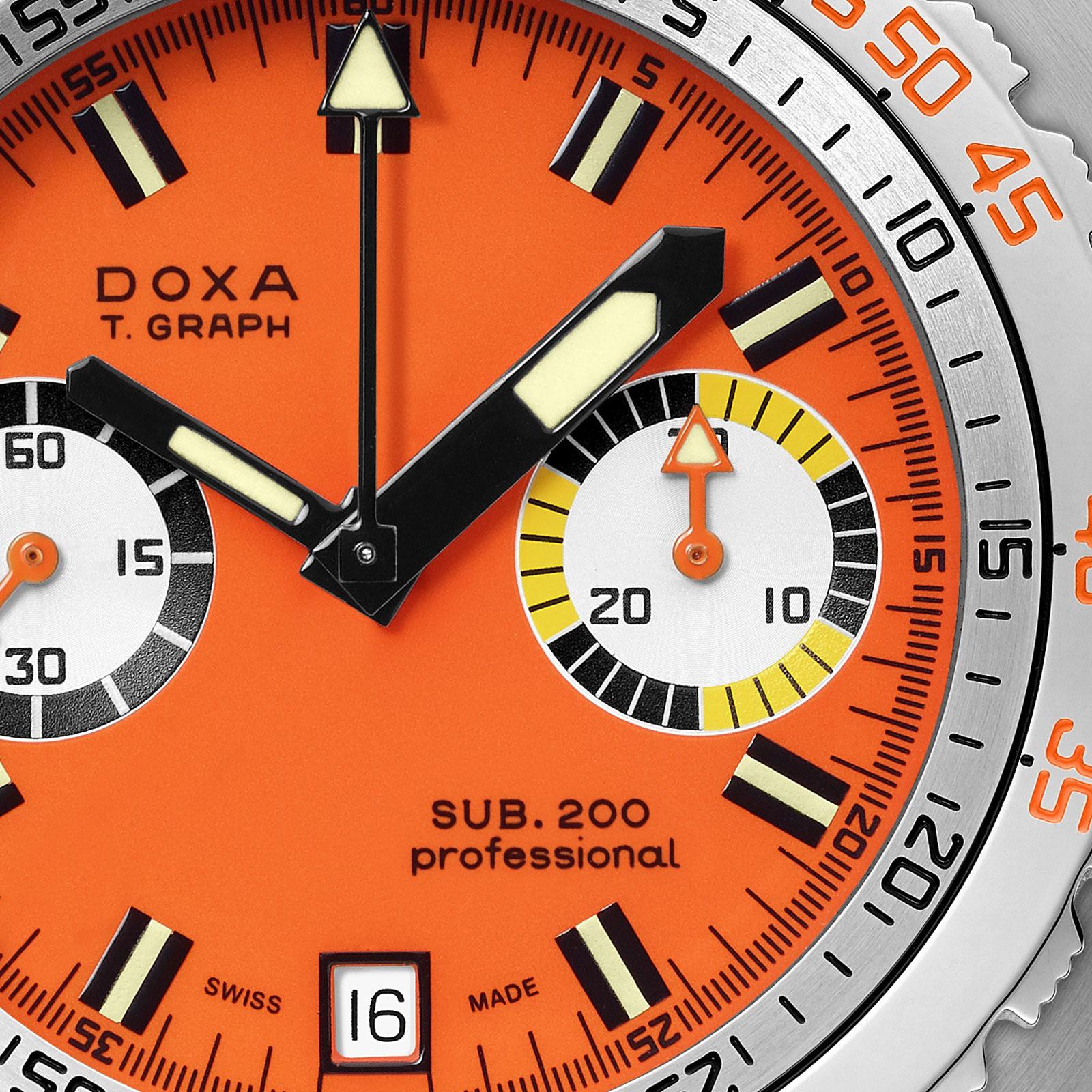 doxa Sub 200 T.Graph steel chronograph 4