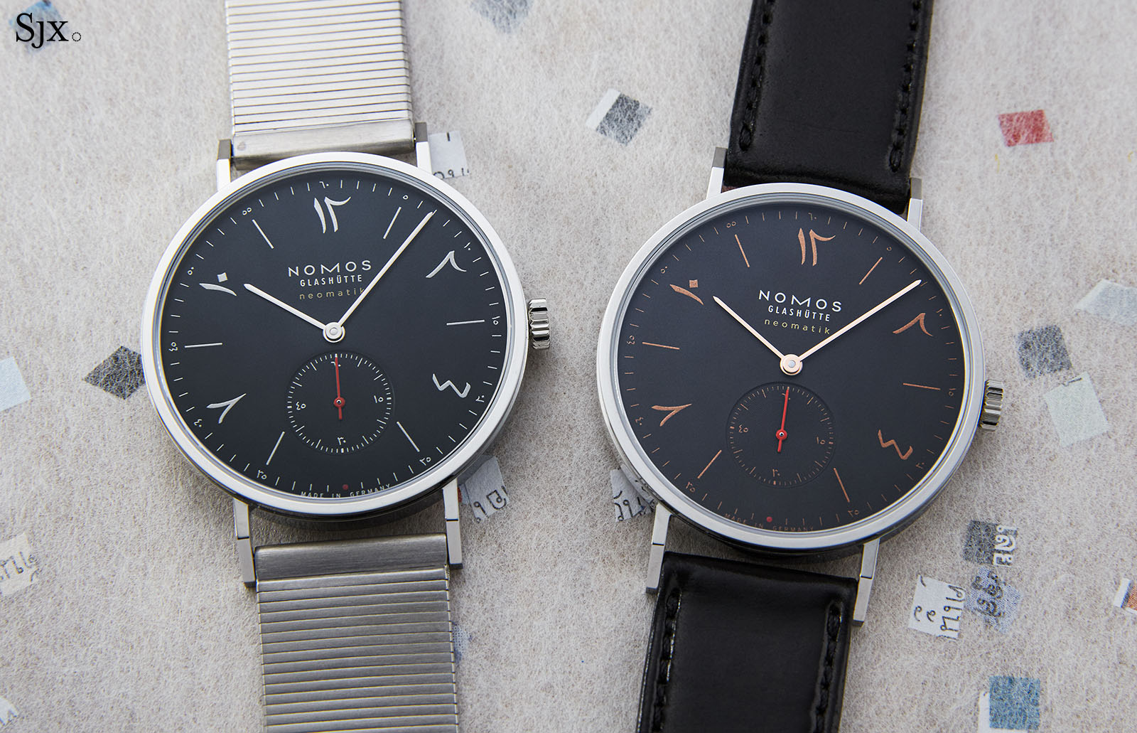 "Nomos Tangente Neomatik 39 Red Dot ""The Hour Glass"" 1"