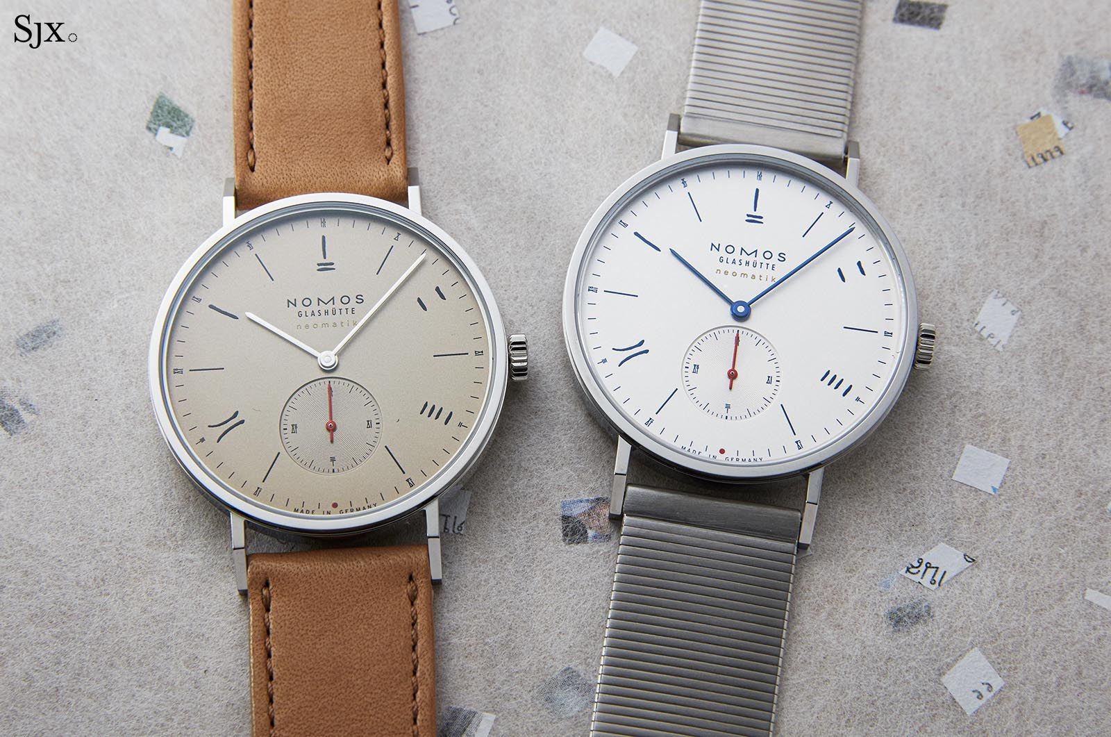 "Nomos Tangente Neomatik 39 Red Dot ""The Hour Glass"""