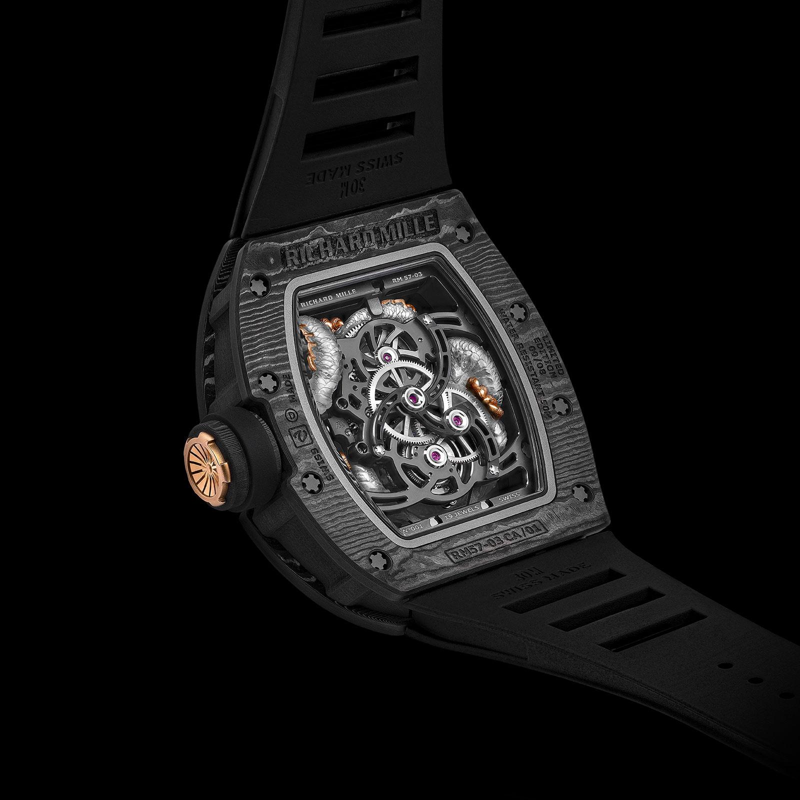 richard mille RM 57-03 Tourbillon Sapphire Dragon 8