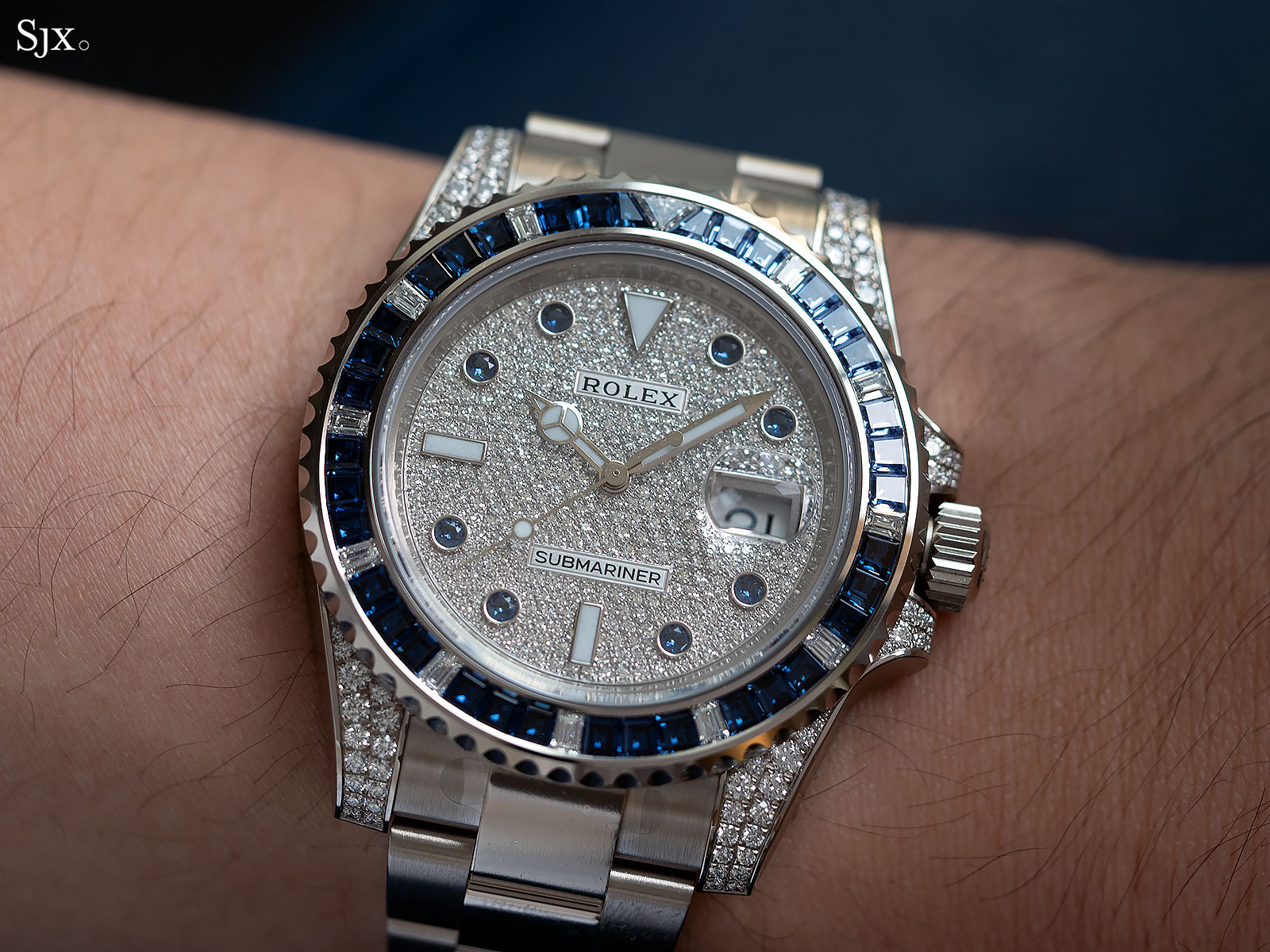 Rolex Submariner 116659SABR blue sapphires diamonds 3