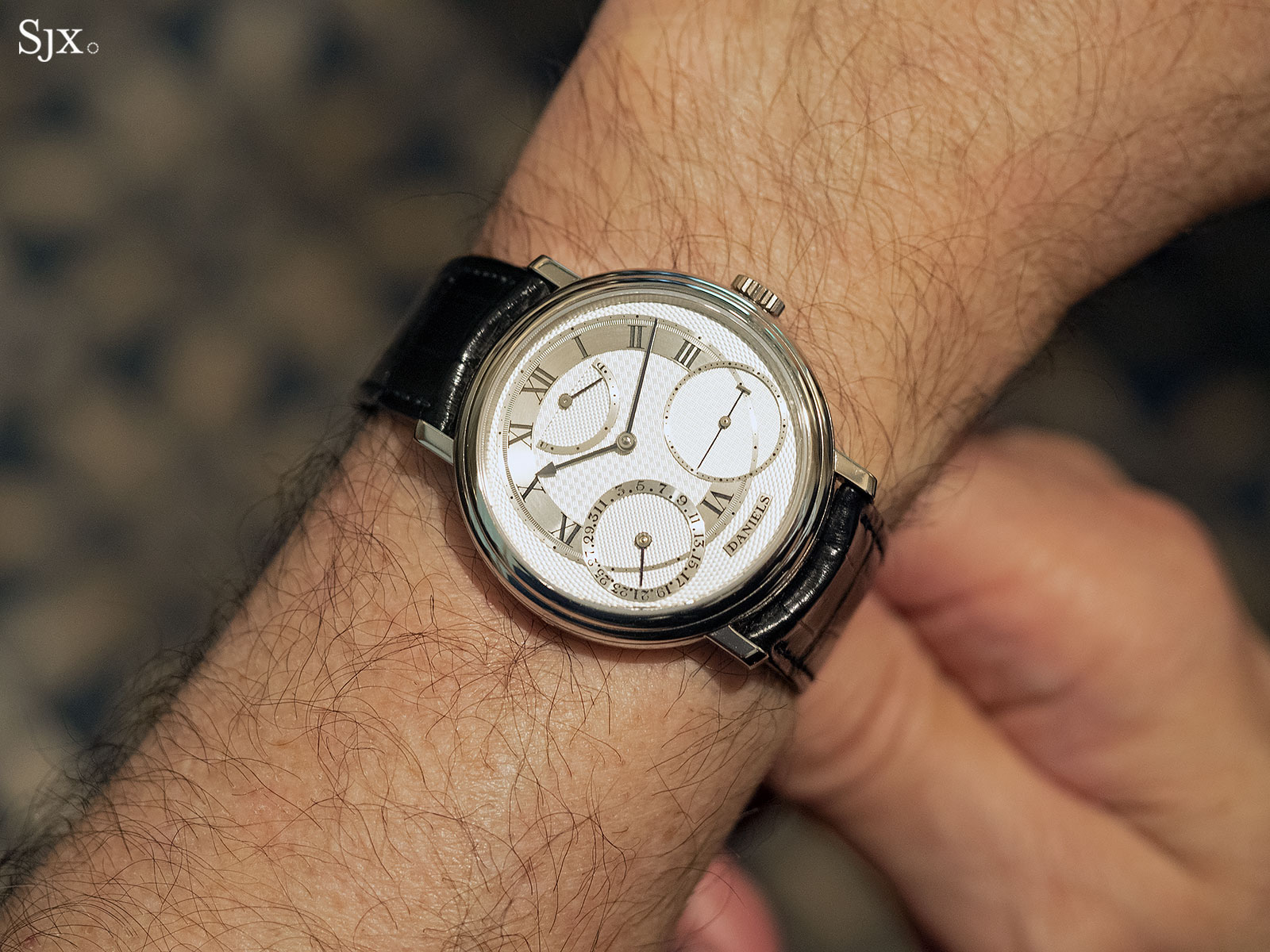 george daniels anniversary watch white gold 13