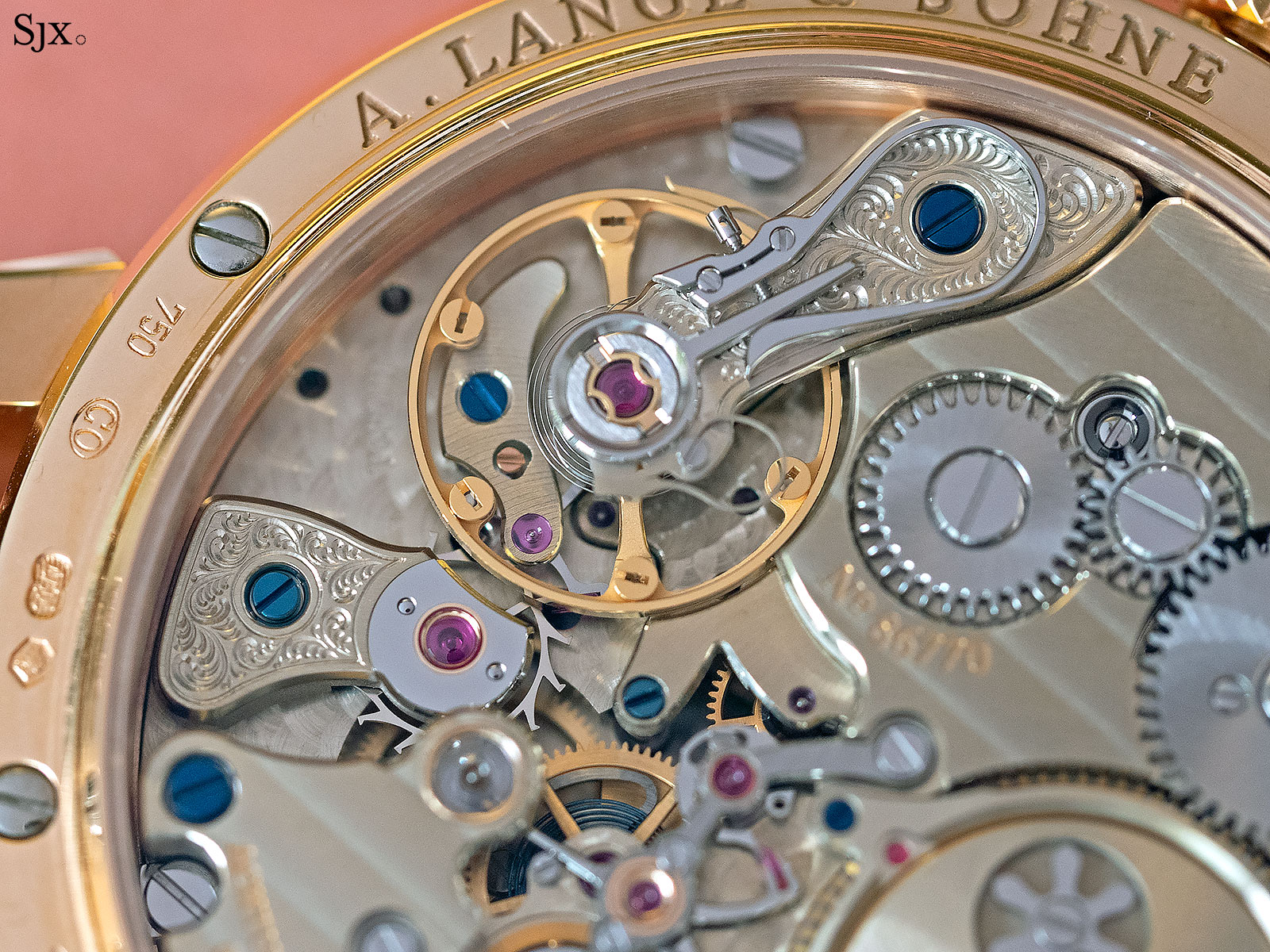 lange zeitwerk rose gold phillips gwa 5