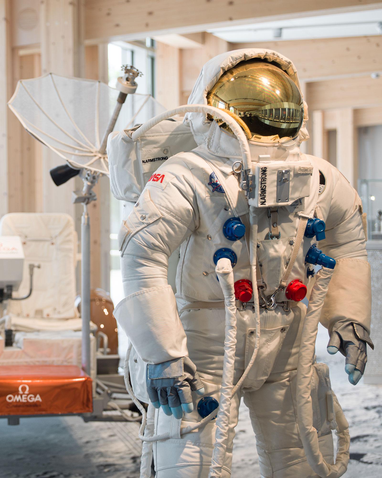 omega museum astronaut spacesuit