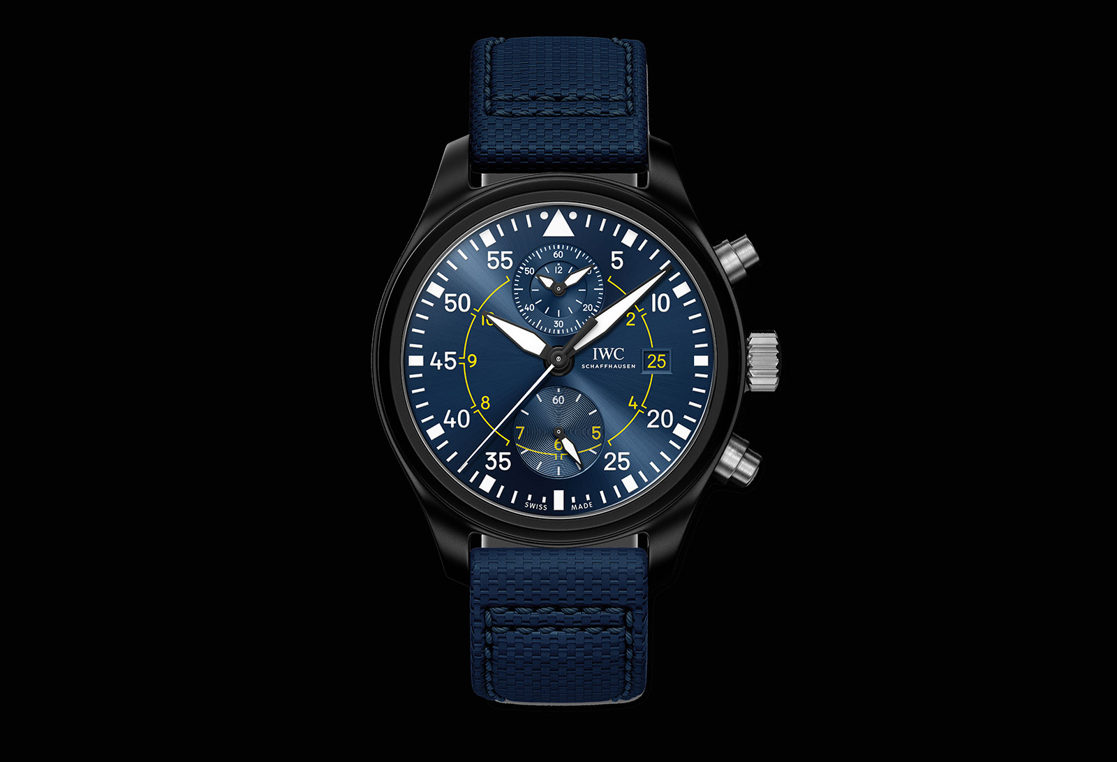"""IWC Introduces the Pilot's Watch Chronograph """"Blue Angels"""" 
