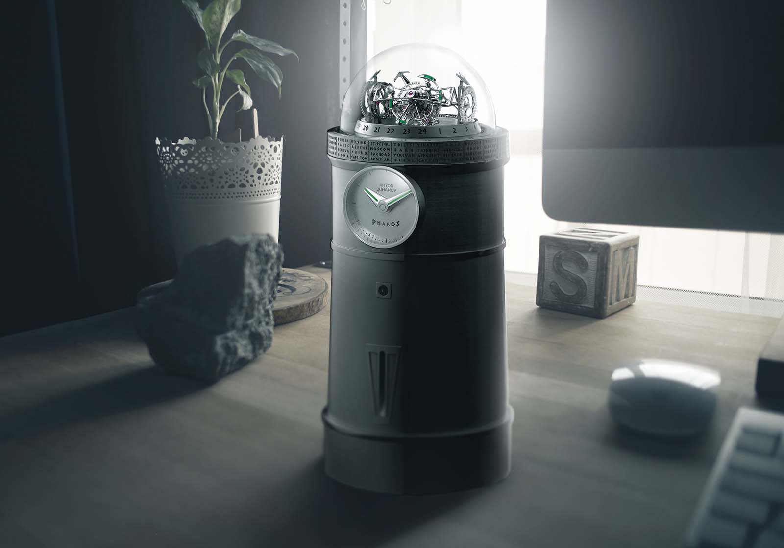 Anton Suhanov Introduces the Pharos Triple-Axis Tourbillon Clock | SJX Watches