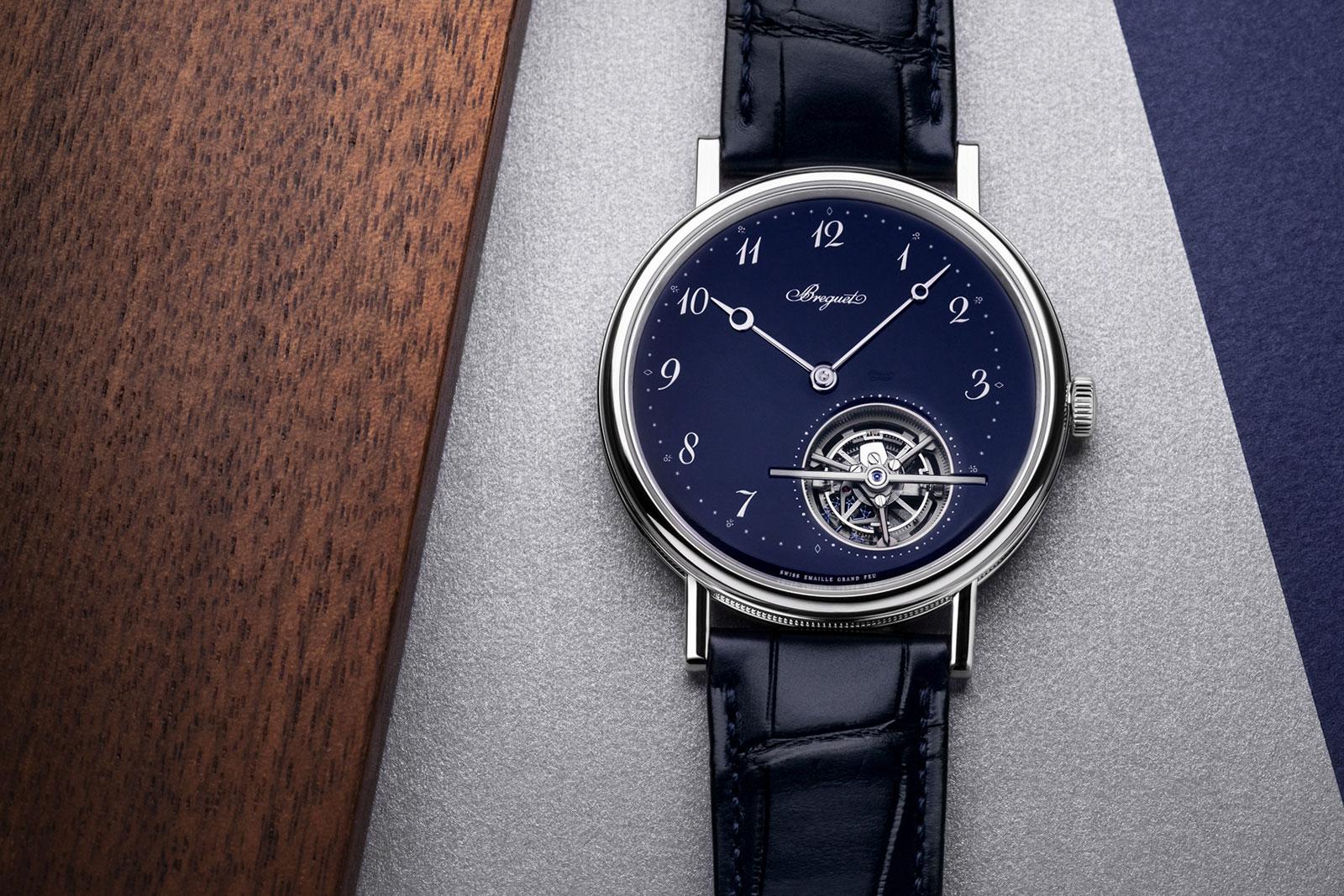 Breguet Introduces the Classique Tourbillon Extra-Plat 5367 Blue Enamel | SJX Watches