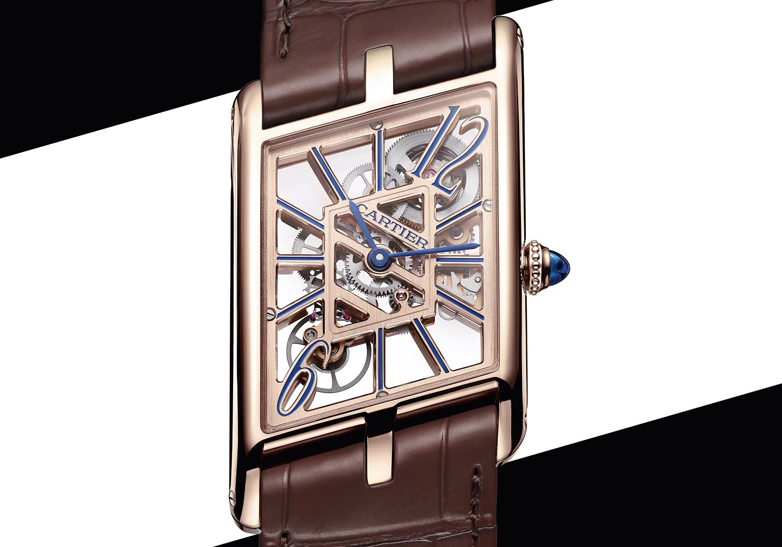Cartier Privé Tank Asymétrique Watches&wonders 2020 skeleton rose gold