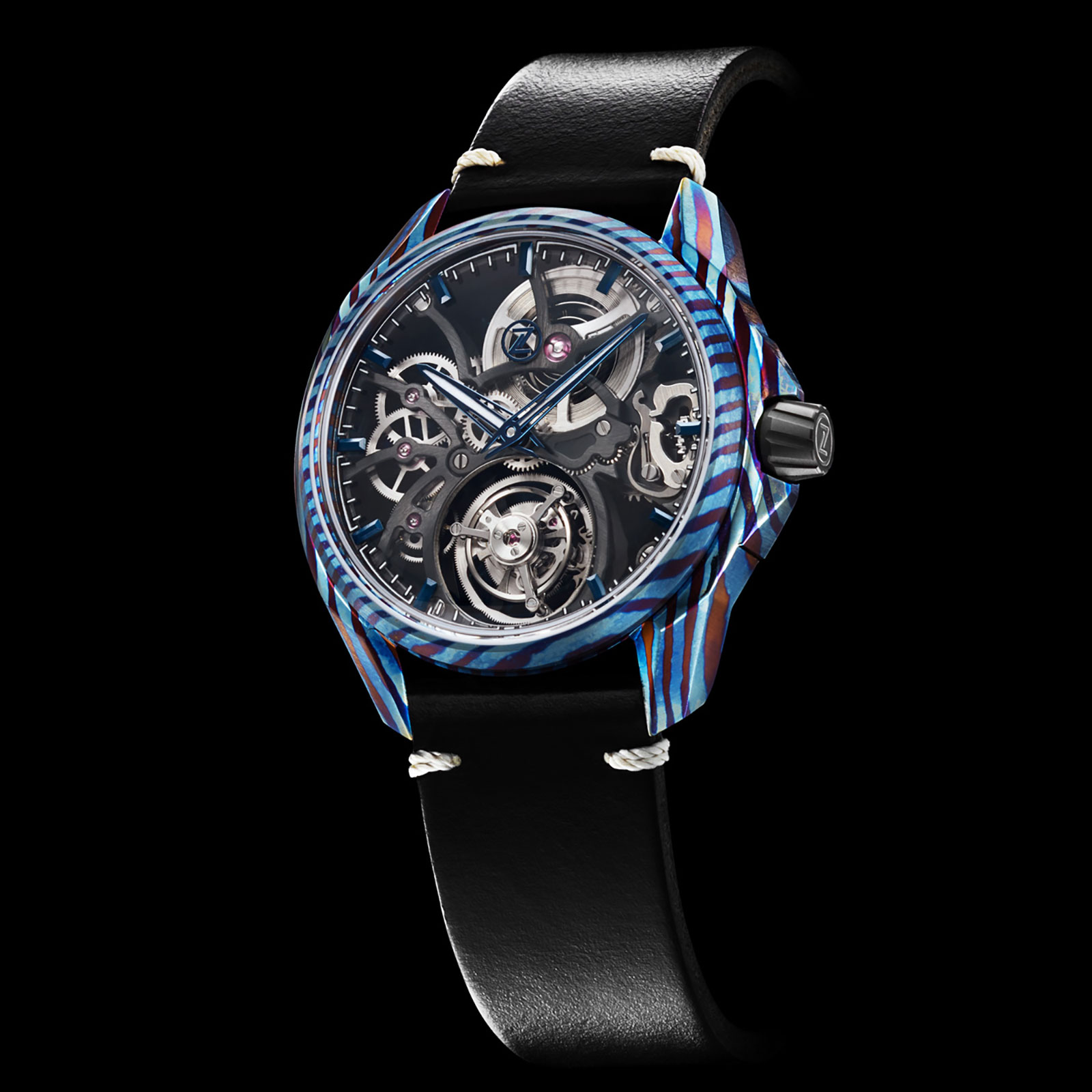 Zelos Introduces the Mirage Tourbillon in Pattern-Welded Alloys | SJX  Watches